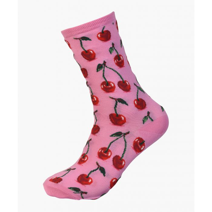 Image for 2pc Hot Cherry cotton-blend socks