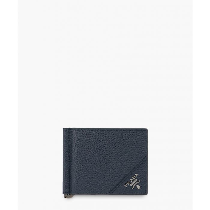 Image for Blue saffiano leather wallet