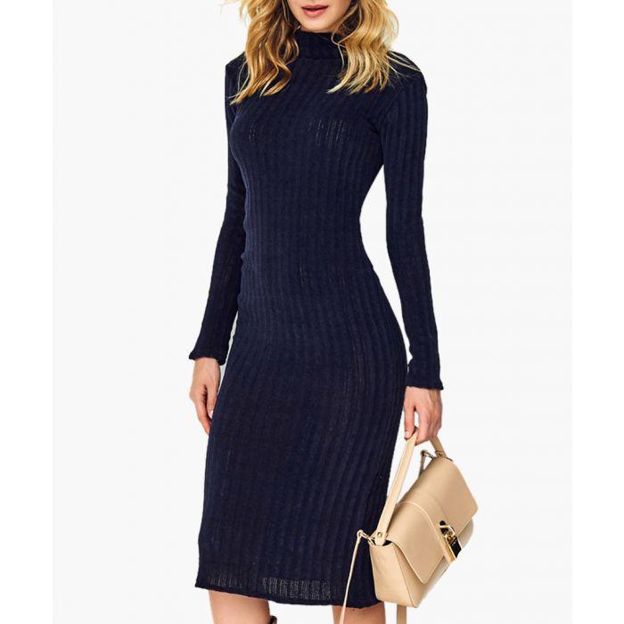 Image for Dark blue knitted jumper