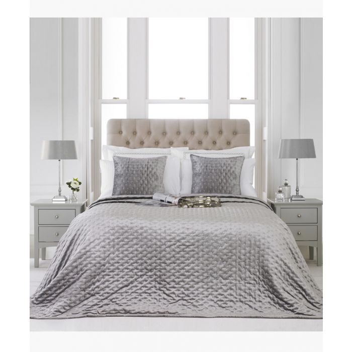 Image for Moonlight silver-tone bedspread