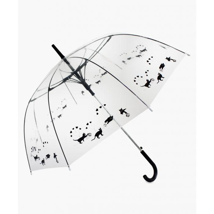 Image for Black cats printed transparent umbrella