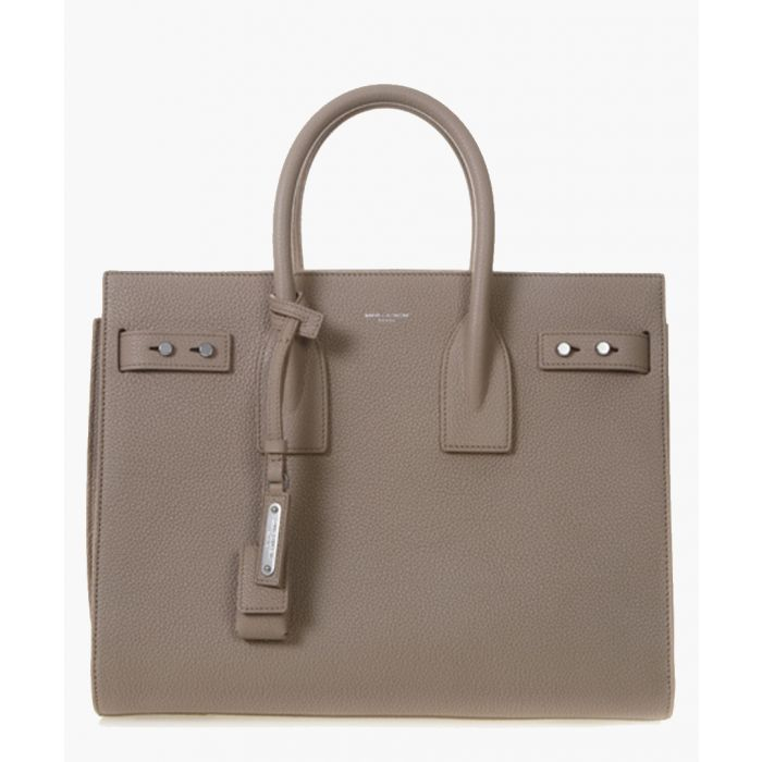 Image for Sac de Jour taupe leather tote bag