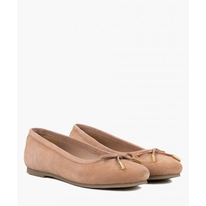 Image for Nude suede ballet flats