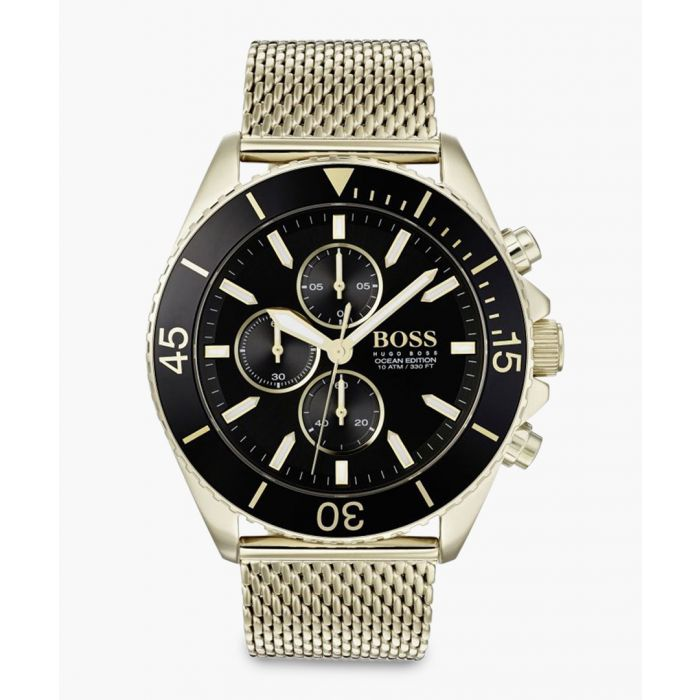 Image for Contemporary sports gold-tone watch