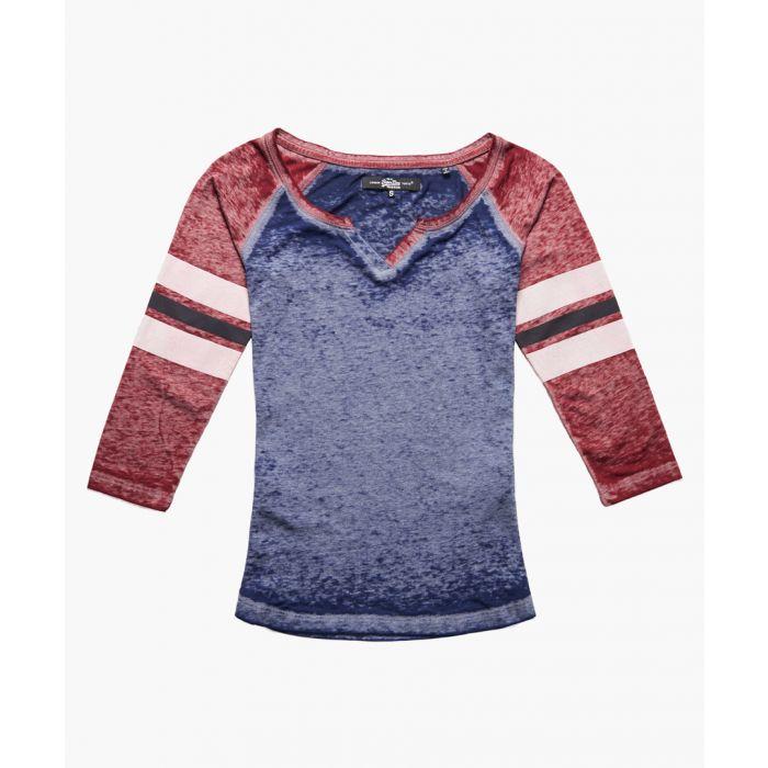 Image for Burnout navy blue cotton blend  basebll T-shirt