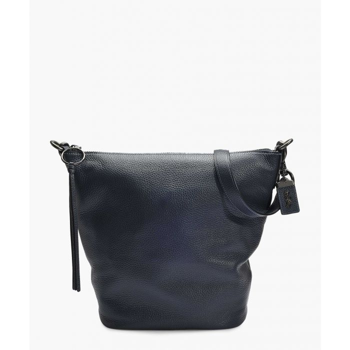 Image for Navy blue leather duffle bag