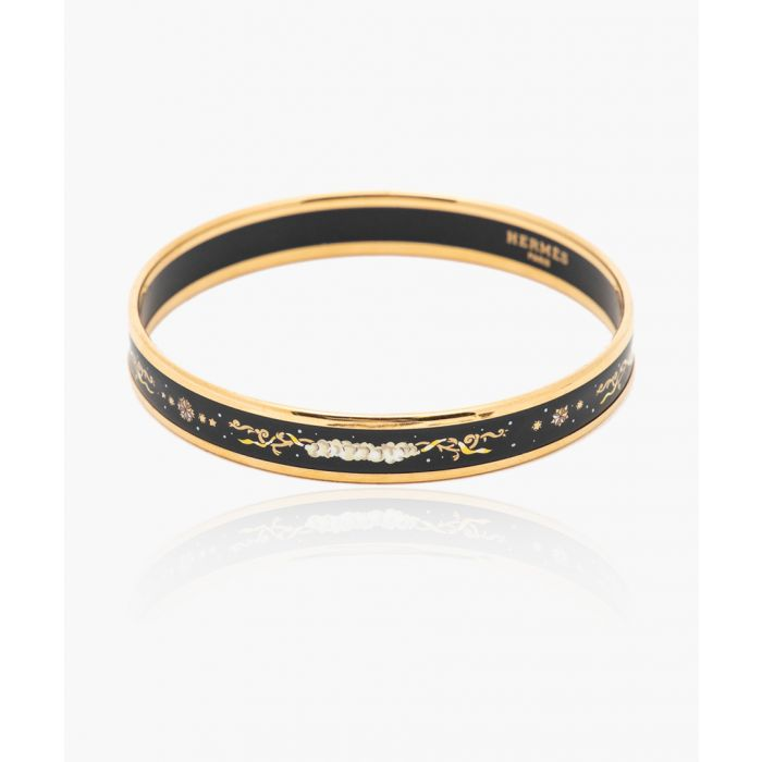 Image for Black enamel bangle