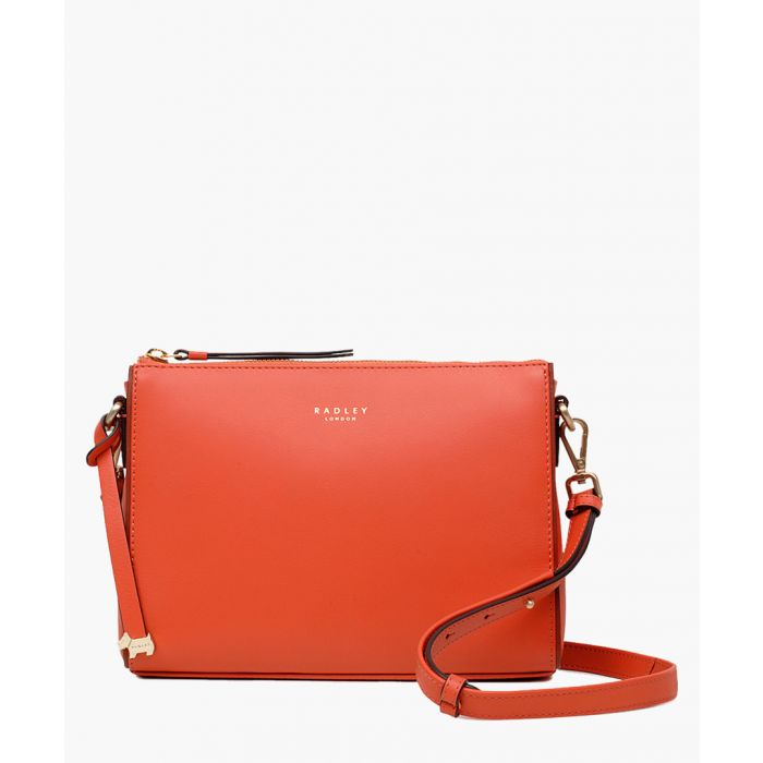 Image for Flame orange small zip-top crossbody