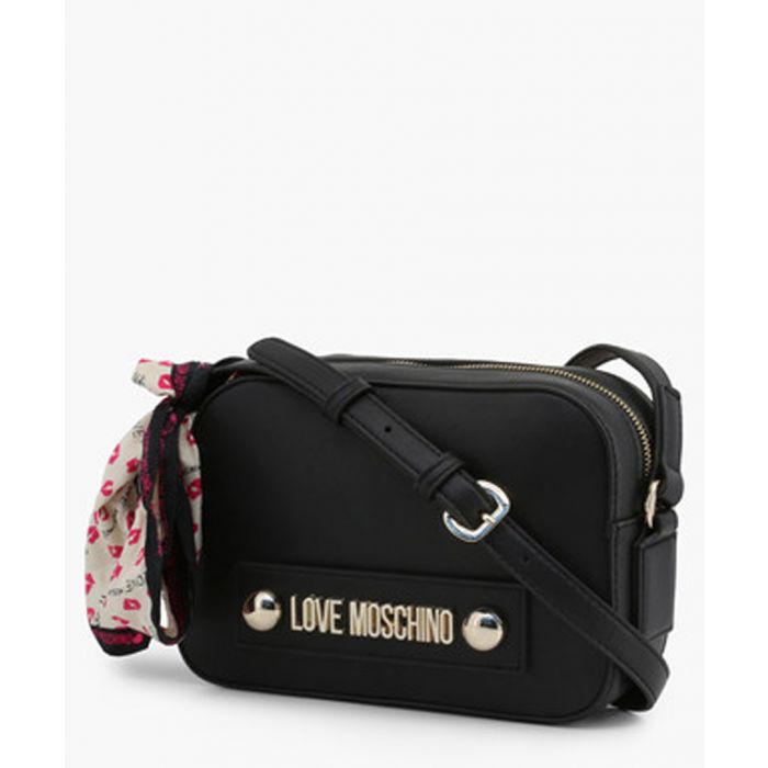 Image for Black faux-leather crossbody