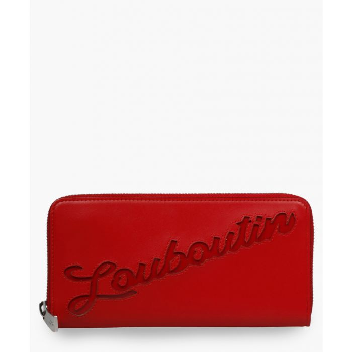 Image for Panettone red leather wallet