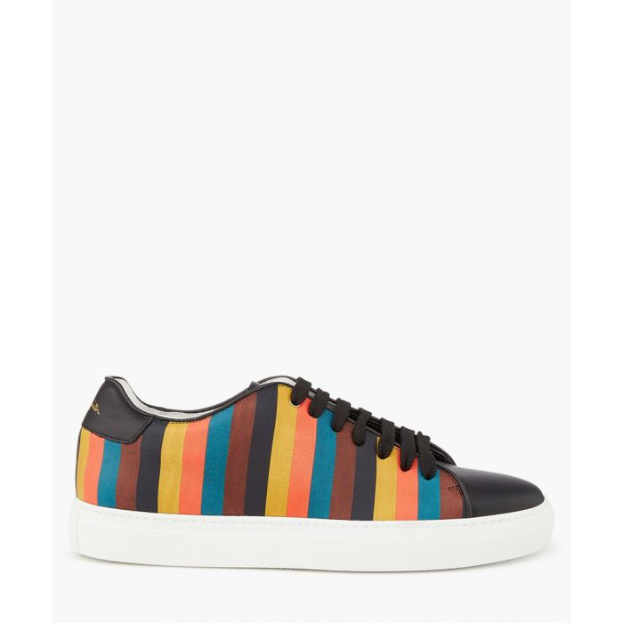 Image for Multi-coloured leather striped sneakers