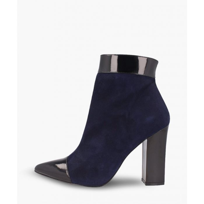 Image for Navy leather ankle boots
