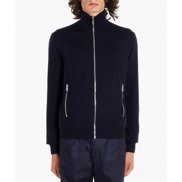 Image for Blue zipped jacket