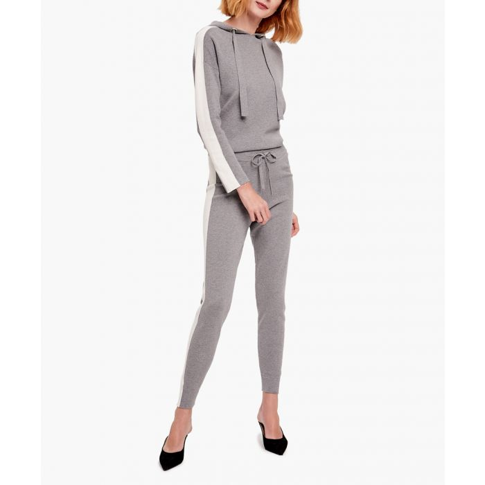 Image for Grey and white cashmere blend jumper and trousers set