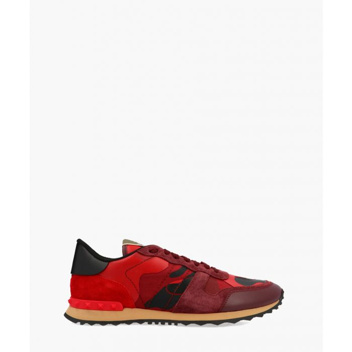 Image for Red leather trainers