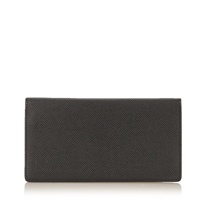 Image for Vintage Louis Vuitton Taiga Wallet Black