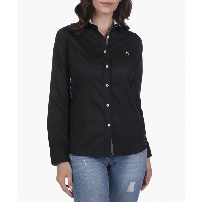 Image for Black cotton blend shirt