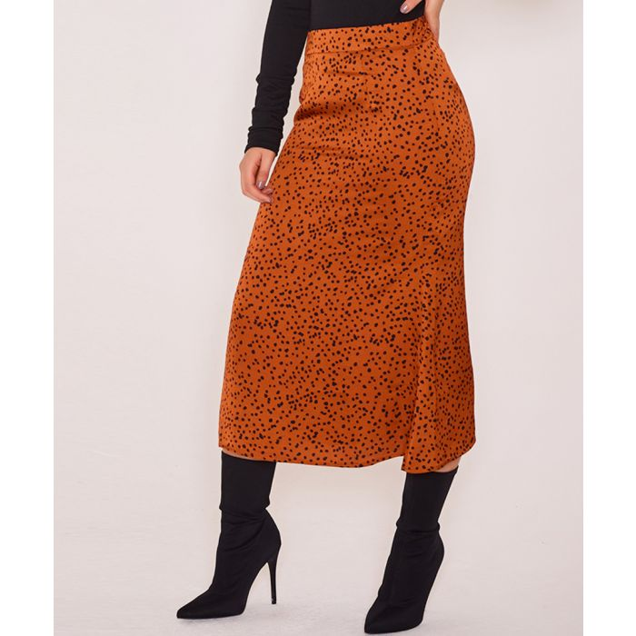 Image for Gigi gold slip skirt