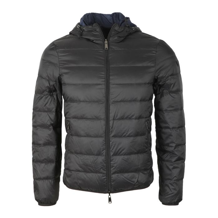 Image for Black padded zip-up coat