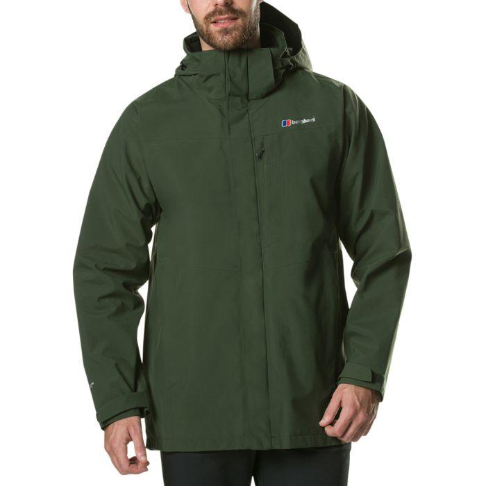 Image for Dark green hooded coat