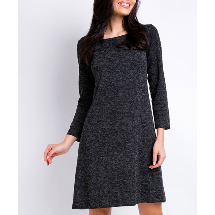 Image for Graphite 3/4 sleeve A-line dress