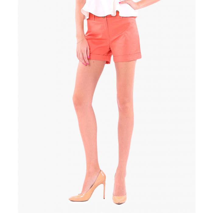 Image for Coral cotton blend shorts