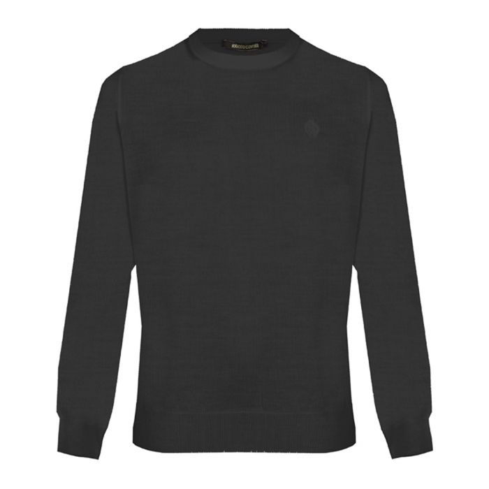 Image for Black wool blend sweatshirt