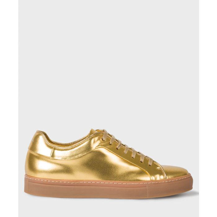 Image for Gold-tone leather sneakers