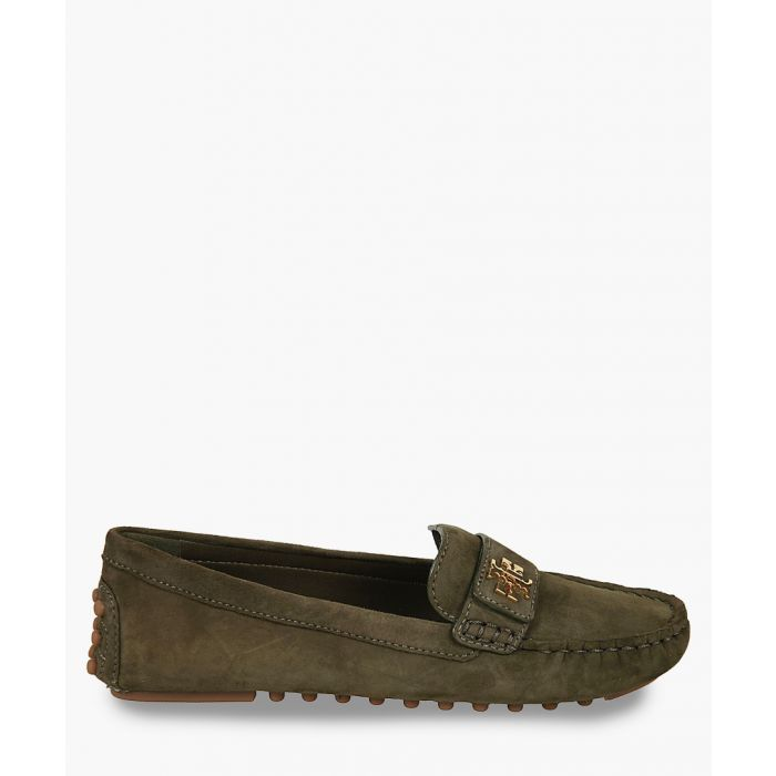 Image for Dark grey suede loafers