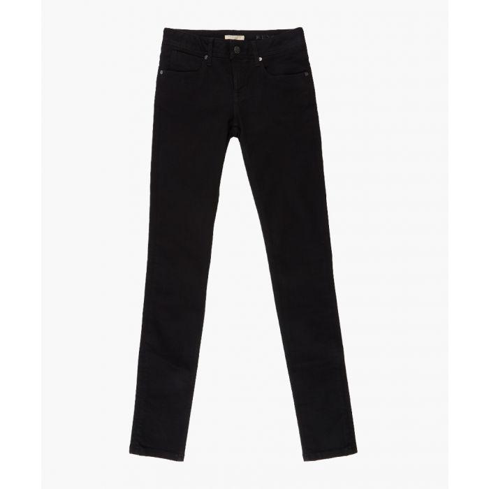 Image for Black cotton blend jeans