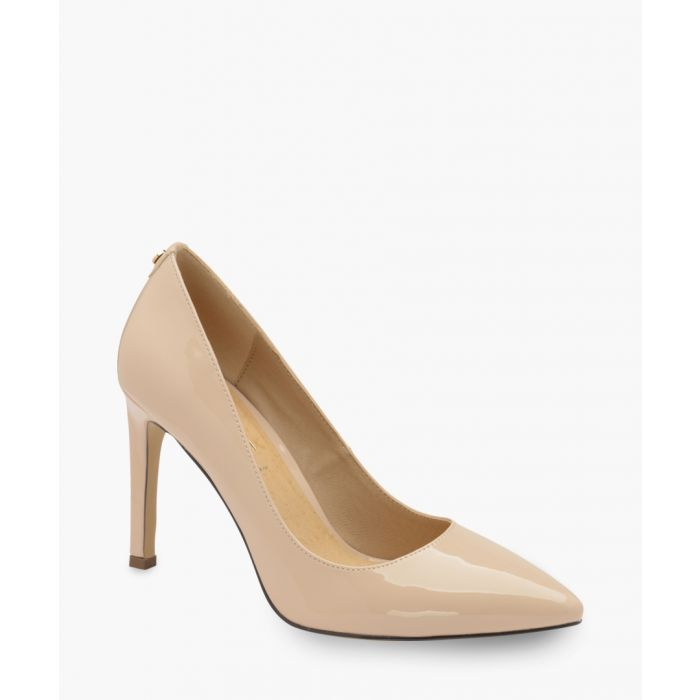 Image for Nude patent pointed heels