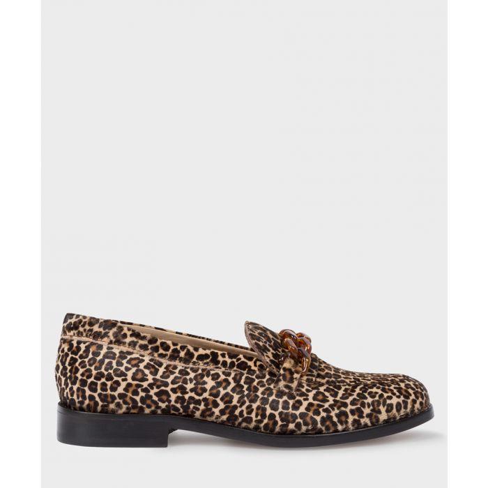 Image for Light beige leopard printed loafers