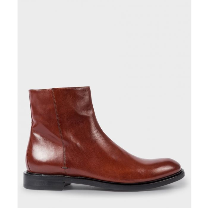 Image for Dark bordeaux leather boots