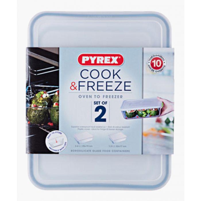 Image for 2pc Cook & Freeze rectangular storage set