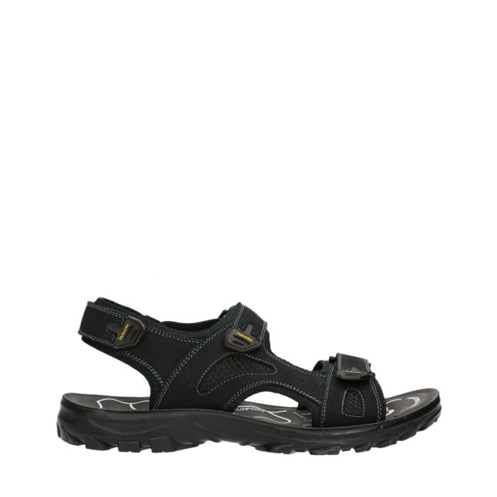 Image for Black leather strap sandals