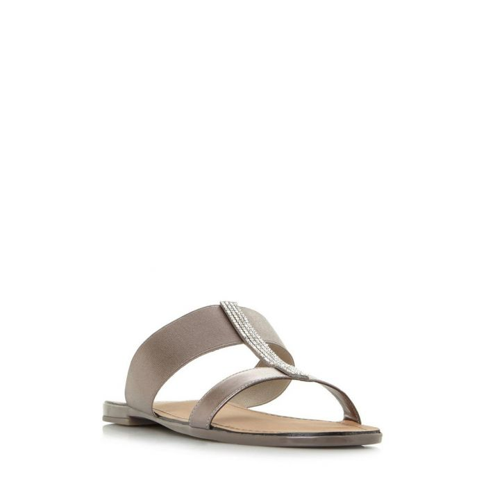 Image for Llora grey double strap sandals