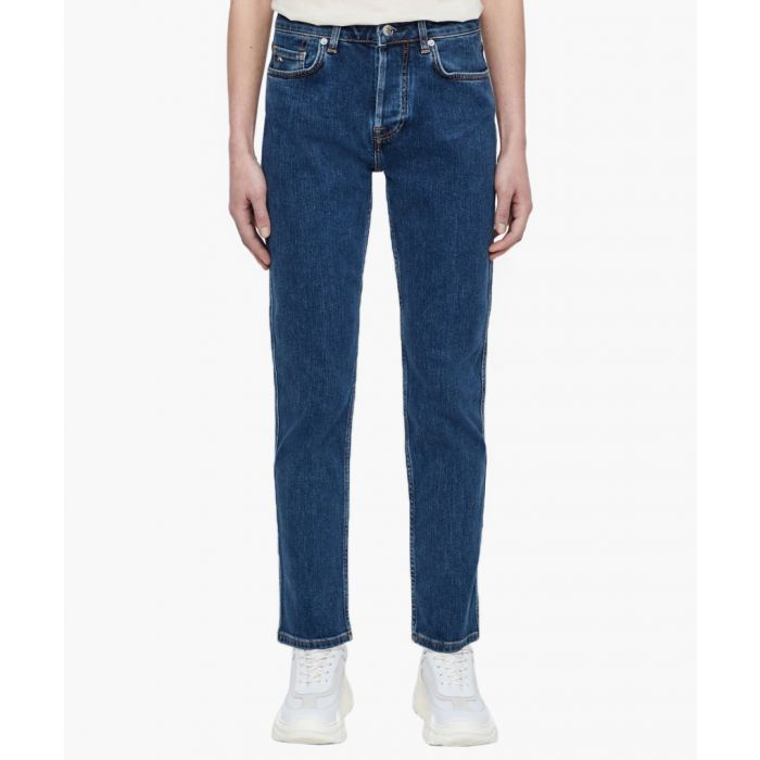 Image for Study day mid blue cotton jeans