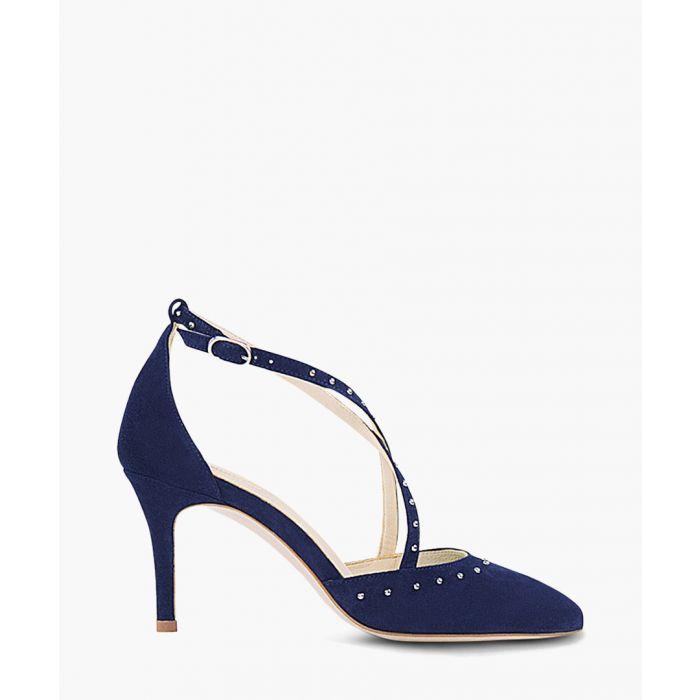 Image for Glitzy navy suede strappy heels