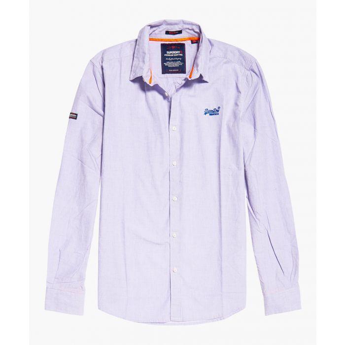 Image for Premium purple pure cotton button-up shirt