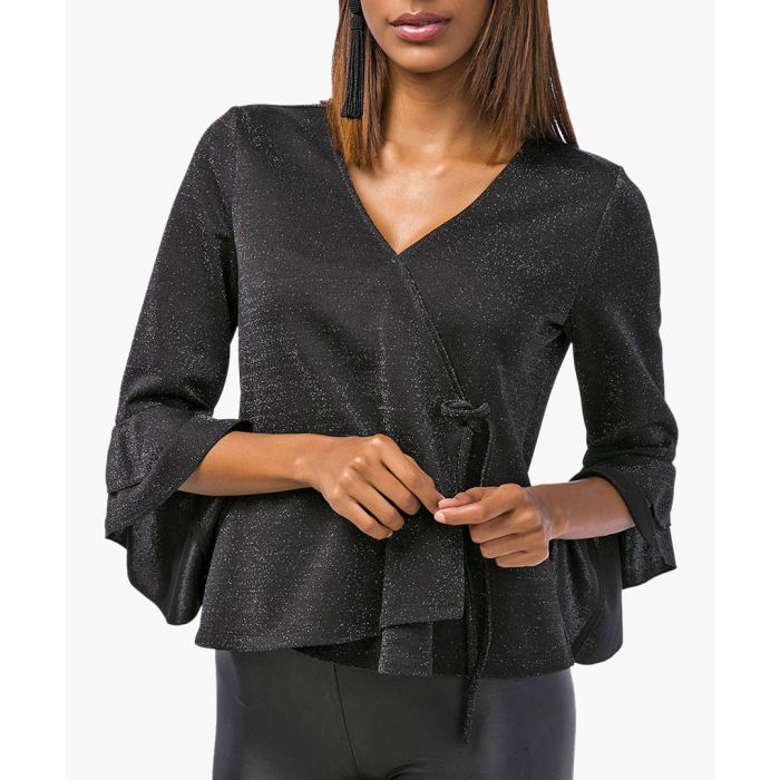 Image for Wrap ruffle blouse