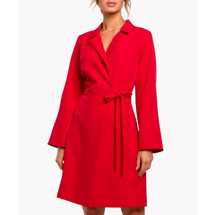 Image for Red wrap mini dress
