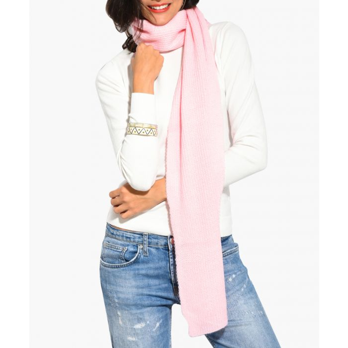 Image for Pink cashmere and mohair blend scarf