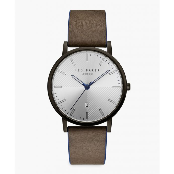 Image for Dean brown leather and stainless steel watch