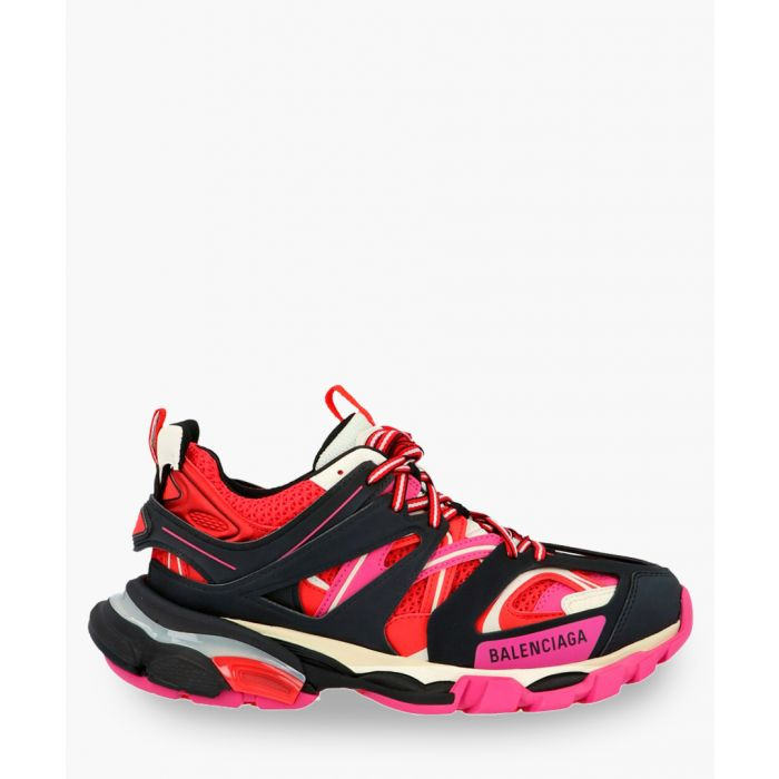 Image for Track pink logo trainers