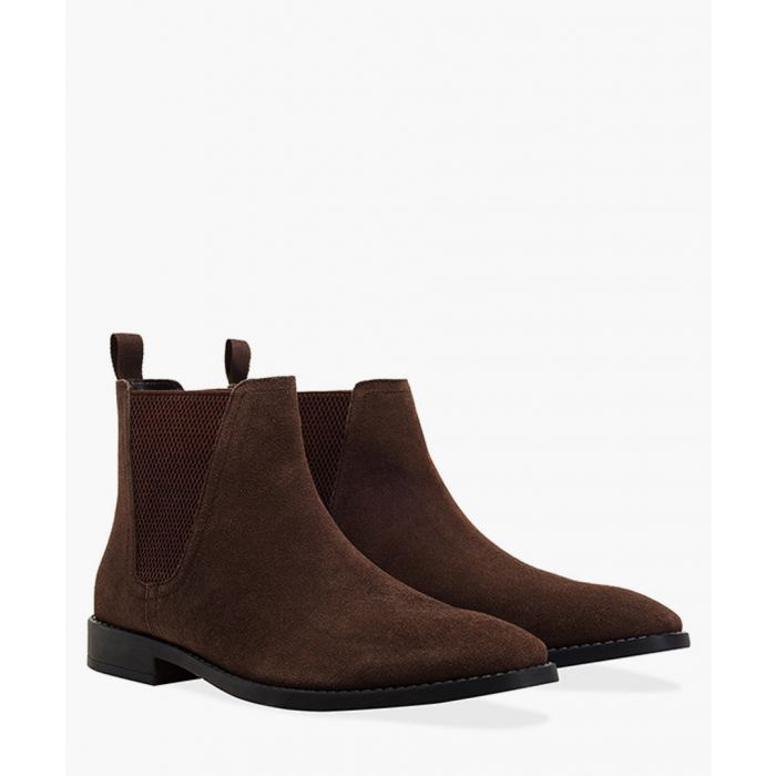 Image for Brown leather square toe Chelsea boots