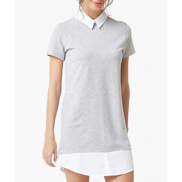Image for Light grey flared cut dress