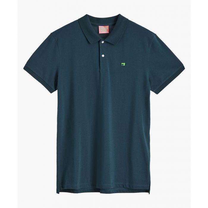 Image for Atlas green cotton pique polo shirt