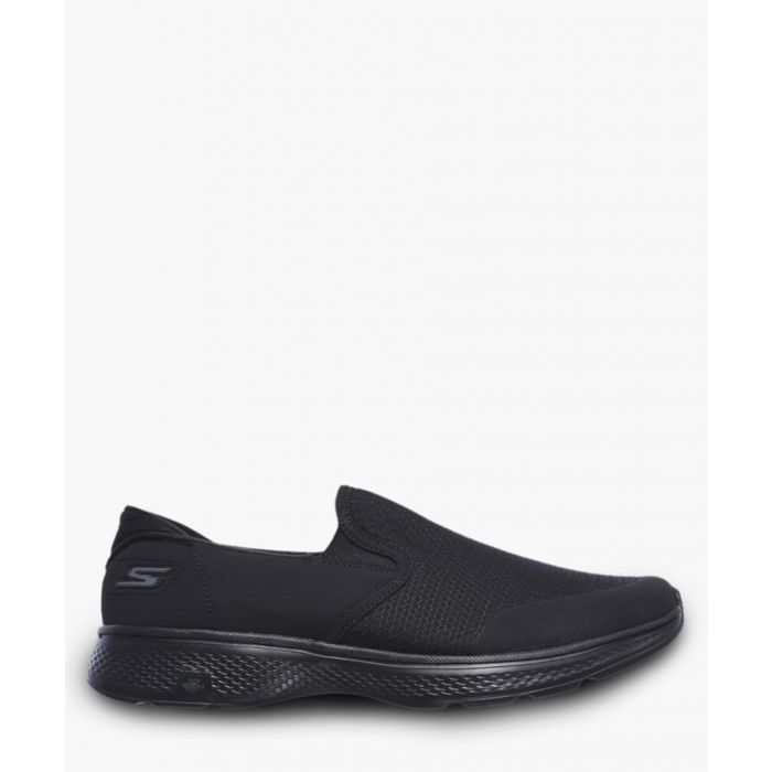 Image for Go Walk 4 black slip-on trainers