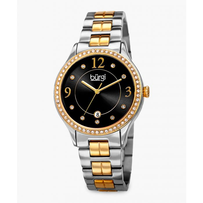 Image for Stainless steel and gold-tone link bracelet wash