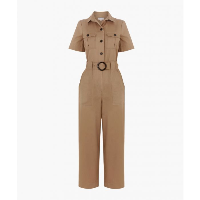 Image for Beige utility jumpsuit